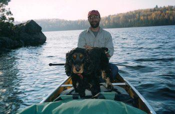 Rosey in canoe