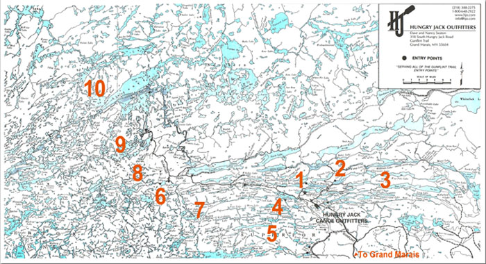 Boundary Waters Routes