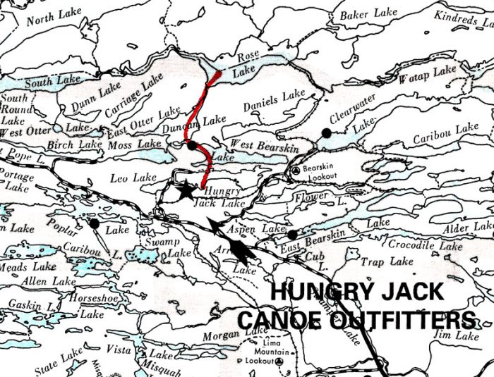 Hungry Jack Lake to Rose Lake