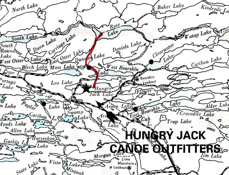 Gunflint Trail BWCAW Route Planning : Hungry Jack Outfitters